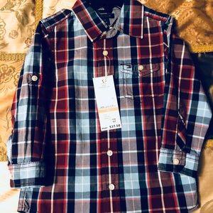 2t Boys Long Sleeve Button Shirt